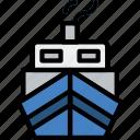 water, cruise, boat, sea, ocean icon