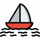 boat, ocean, sail, sea, water icon