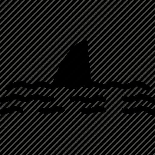 ocean, sea, shark, water icon