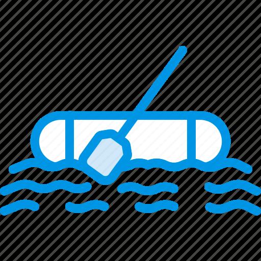 ocean, raft, sea, water icon
