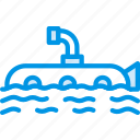 ocean, sea, submarine, water icon
