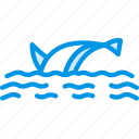 dolphin, ocean, sea, water icon