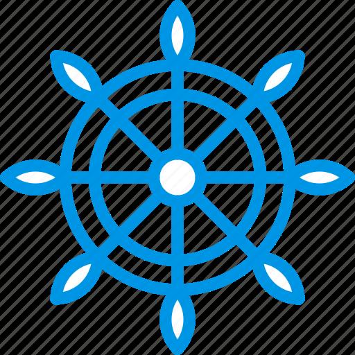 navigation, ocean, sea, water, wheel icon