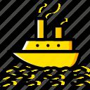 boat, ocean, sea, water
