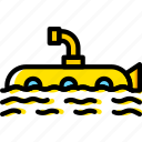 ocean, sea, submarine, water
