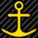 anchor, ocean, sea, water