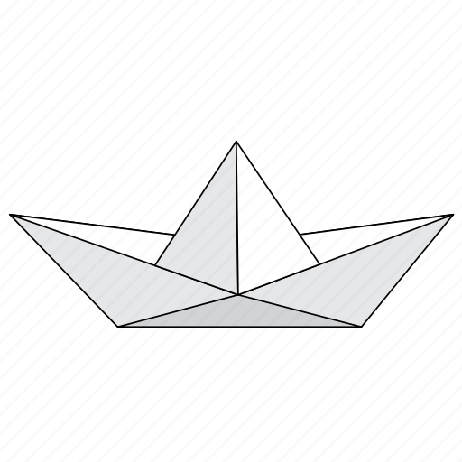 boat, fold, origami, paper, sailing, ship icon