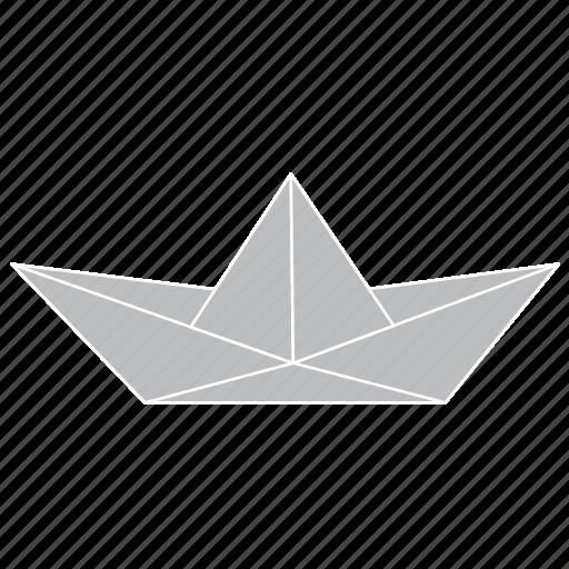 boat, fold, origami, paper, sailing, ship icon