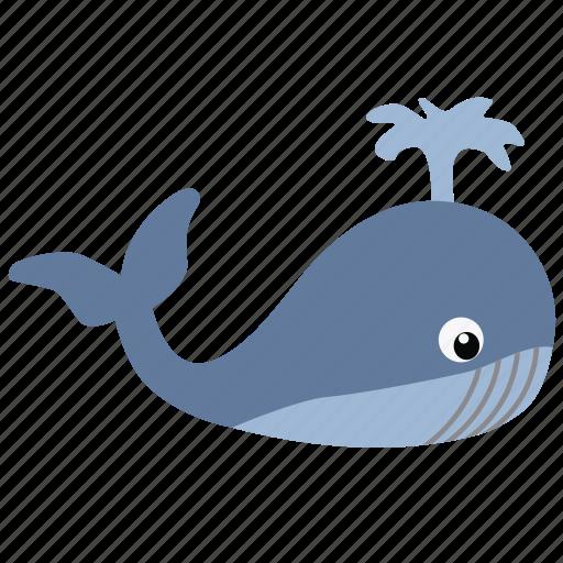 animal, big, fish, marine, ocean, whale icon