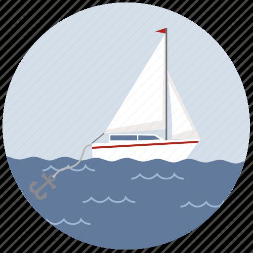 anchor, boat, marine, ocean, sailing, sea, ship icon