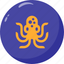 oceanic, octopus, prong, sea