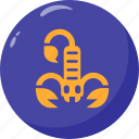 poison, scorpio, scorpion, venom icon