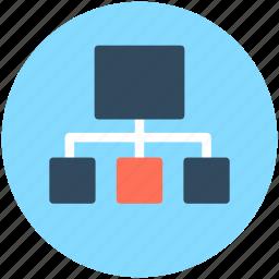 hierarchy, network, organization structure, sitemap, workflow icon