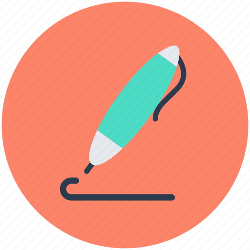 Ball pen, ballpoint, ink pen, stationery, writing tool icon - Download on Iconfinder
