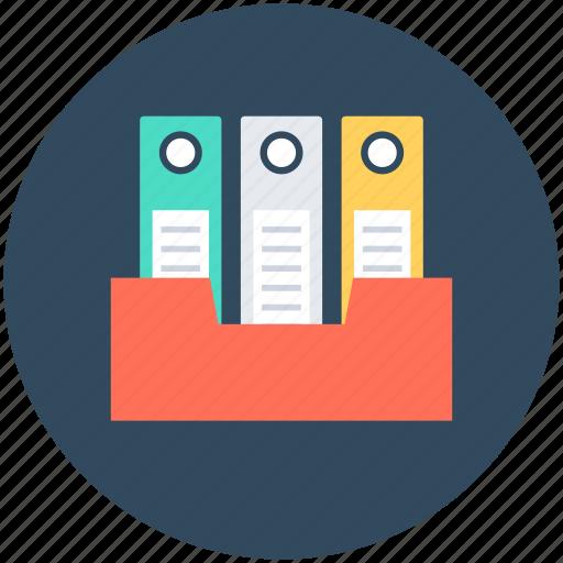 files drawer, files rack, files storage, inbox, office supplies icon