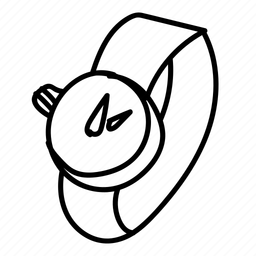 doodle, drawing, hand drawn, smartwatch, timepiece, watch icon
