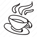coffee, cup, doodle, drawing, hand drawn, hot, tea icon