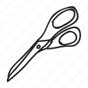 cut, doodle, drawing, hand drawn, office, scissors icon