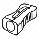 doodle, drawing, hand drawn, pencil, sharpener icon