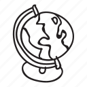 doodle, drawing, globe, hand drawn icon