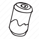 can, coke, doodle, drawing, drink, hand drawn, soda icon