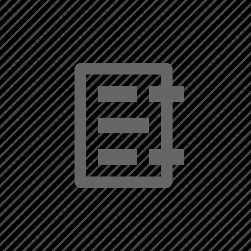 address, binder, book, clipboard icon