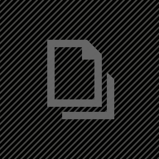 copy, document, empty, multiple, paper icon
