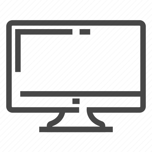 computer, desk, display, monitor, office icon