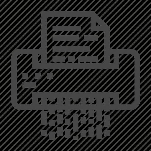 document, office, shredder icon