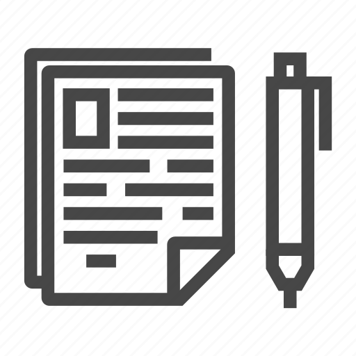 document, draw, office, page, paper, pen, pencil, write, writing icon