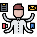 business, corporation, job, multitasking, office, task, work icon