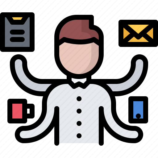 business, corporation, job, multitasking, office, task, work icon