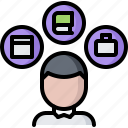 book, business, hard, office, portfolio, skill, skills icon