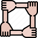 arm, business, collective, corporation, job, office, rally icon