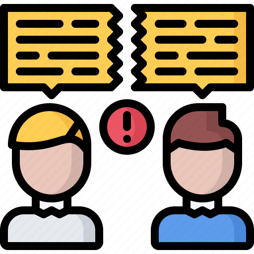 business, conflict, corporation, dialog, discussion, job, office icon
