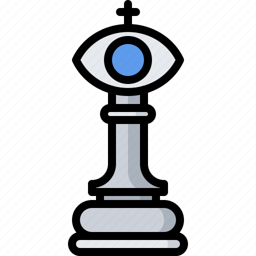 business, chess, corporation, eye, office, strategy, vision icon