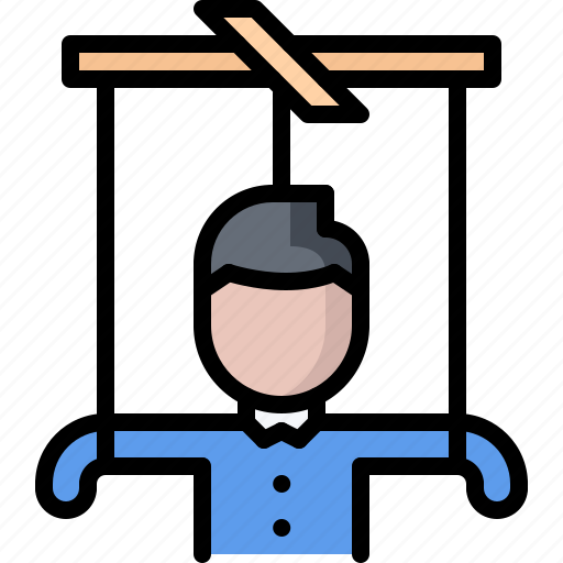 business, corporation, job, manipulation, office, puppet, thread icon