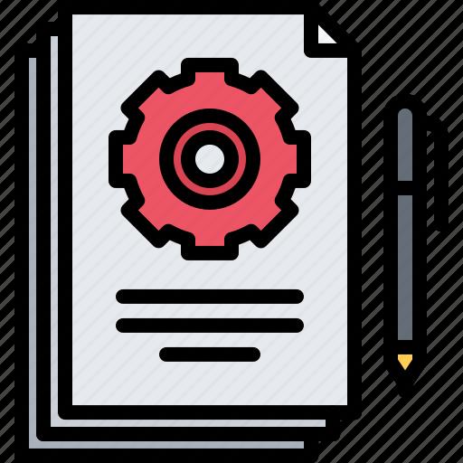 business, corporation, document, documentation, job, office, optimization icon