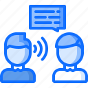 business, corporation, dialog, job, listening, office, skill icon