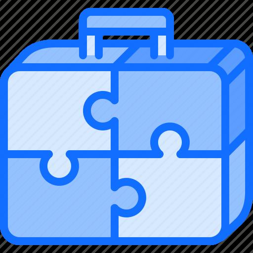 business, consolidation, corporation, job, office, portfolio, puzzle icon