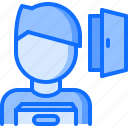 box, business, corporation, dismissal, door, job, office icon