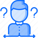 business, choice, corporation, dilemma, job, office, question icon