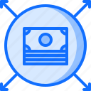 allocation, budget, business, corporation, job, money, office icon