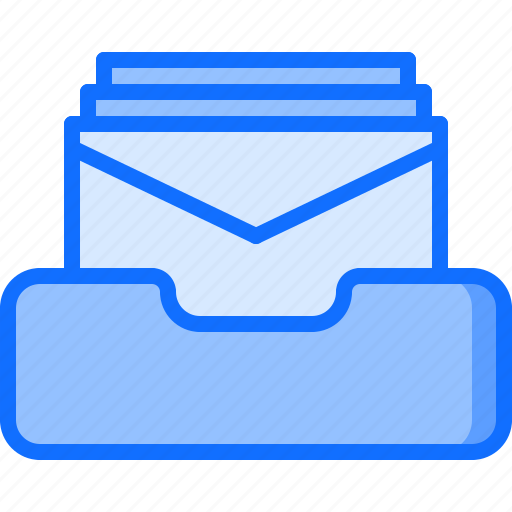 business, corporation, email, inbox, job, letter, office icon