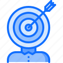 business, corporation, job, office, success, target, victory icon