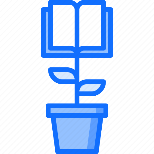 book, business, corporation, growth, knowledge, office, training icon