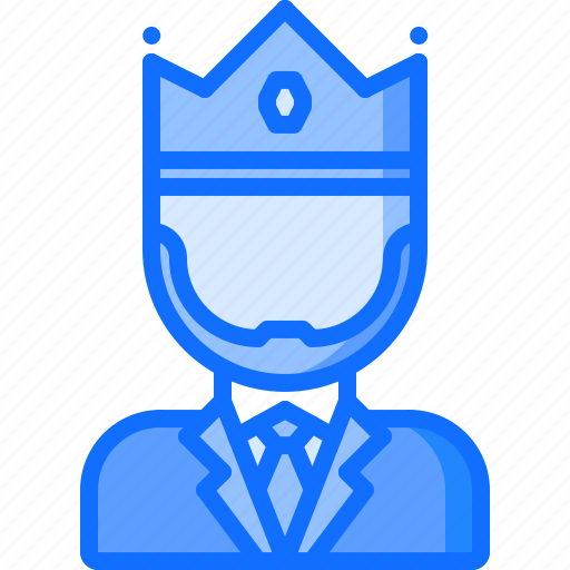 boss, business, corporation, crown, job, king, office icon