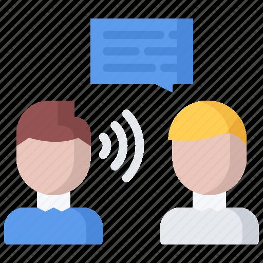 business, corporation, dialog, job, listening, office, skill icon