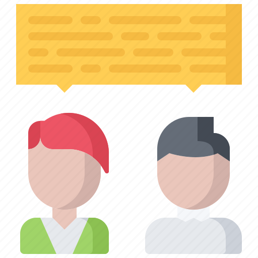 business, corporation, dialog, discussion, job, office, work icon