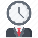 business, clock, corporation, deadline, management, office, time icon